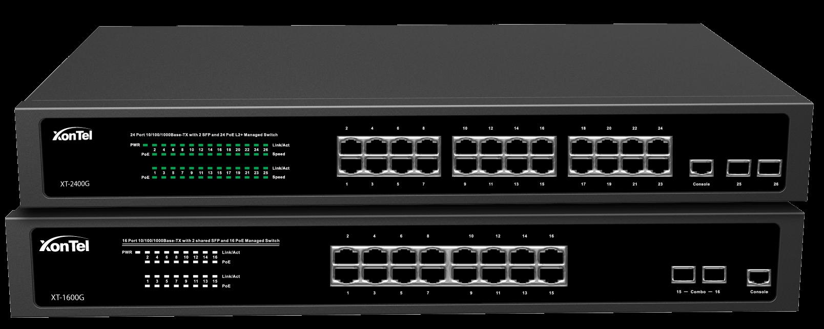 XT-2400G & XT-1600G Managed Gigabit POE Switches - Arab